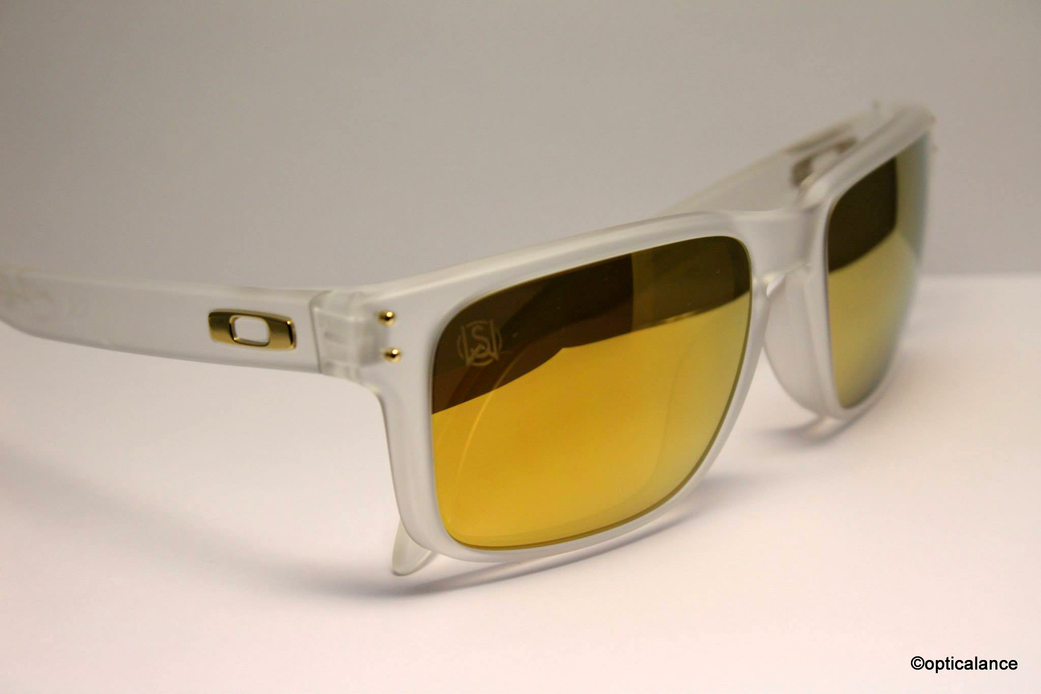 969a0a777c6 oakley shaun white holbrook mens sunglasses polished black 24k iridium